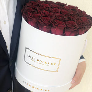 Grand Luxe Bouquet Box - Crimson - Luxe Bouquet roses that last a year