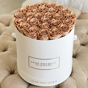 Grand Luxe Bouquet Box - Dark Beige - Luxe Bouquet roses that last a year
