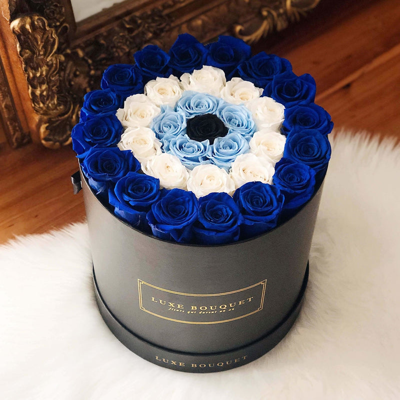 Grand Luxe Bouquet Box - Evil Eye - Luxe Bouquet roses that last a year