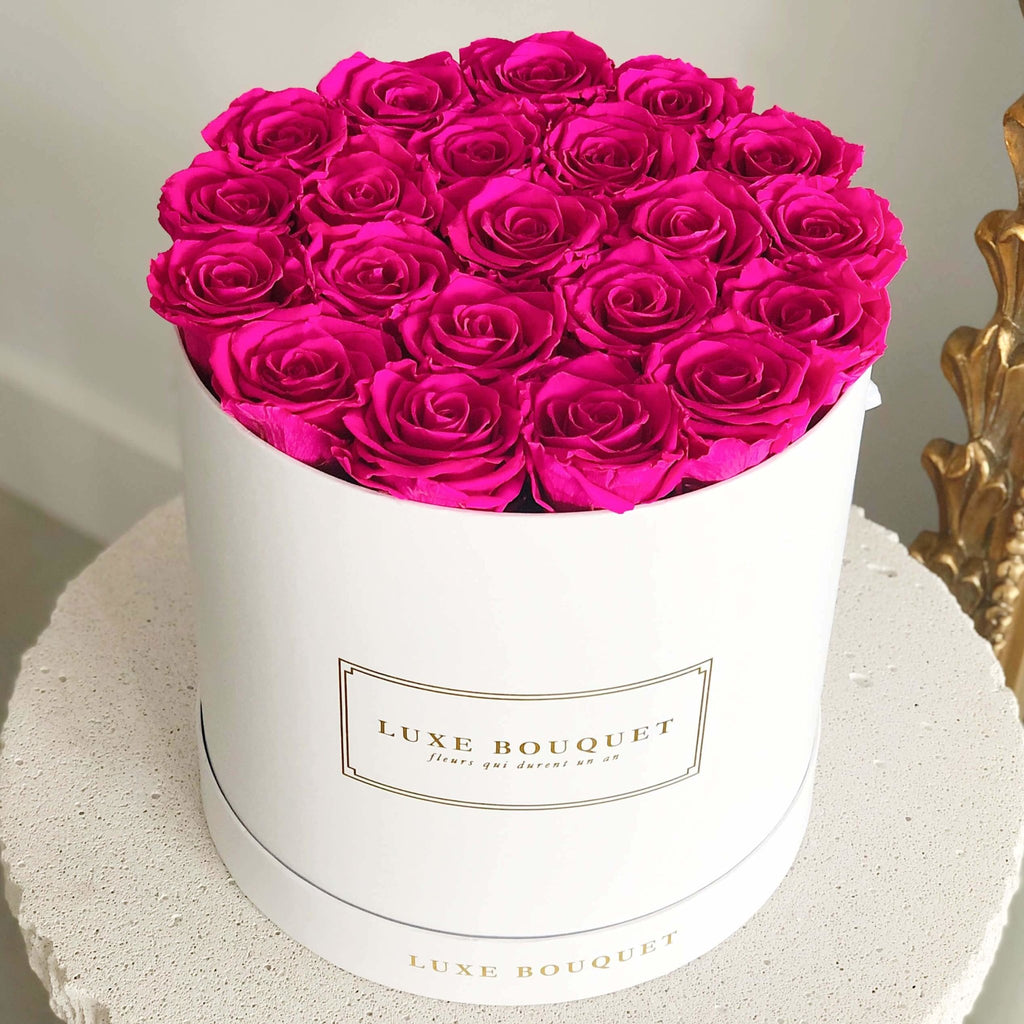 Grand Luxe Bouquet Box - Fuchsia - Luxe Bouquet roses that last a year