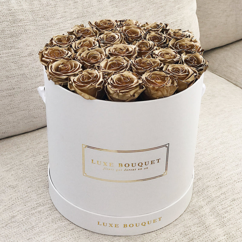 Grand Luxe Bouquet Box - Gold - Luxe Bouquet roses that last a year