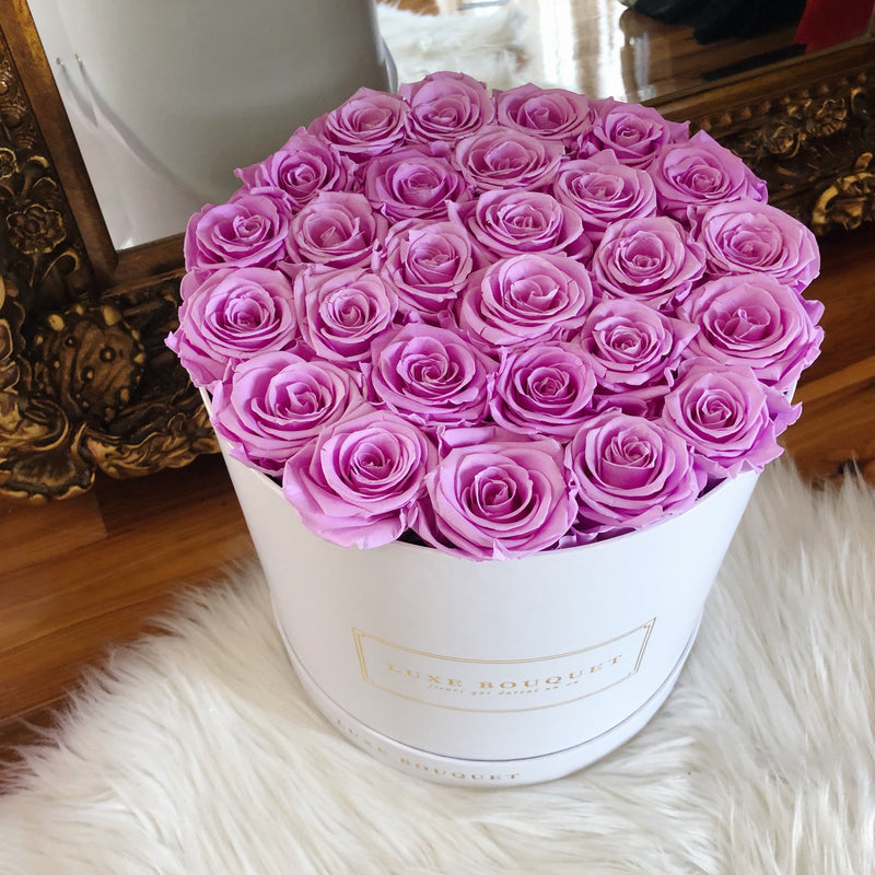 Grand Luxe Bouquet Box - Lilac - Luxe Bouquet roses that last a year