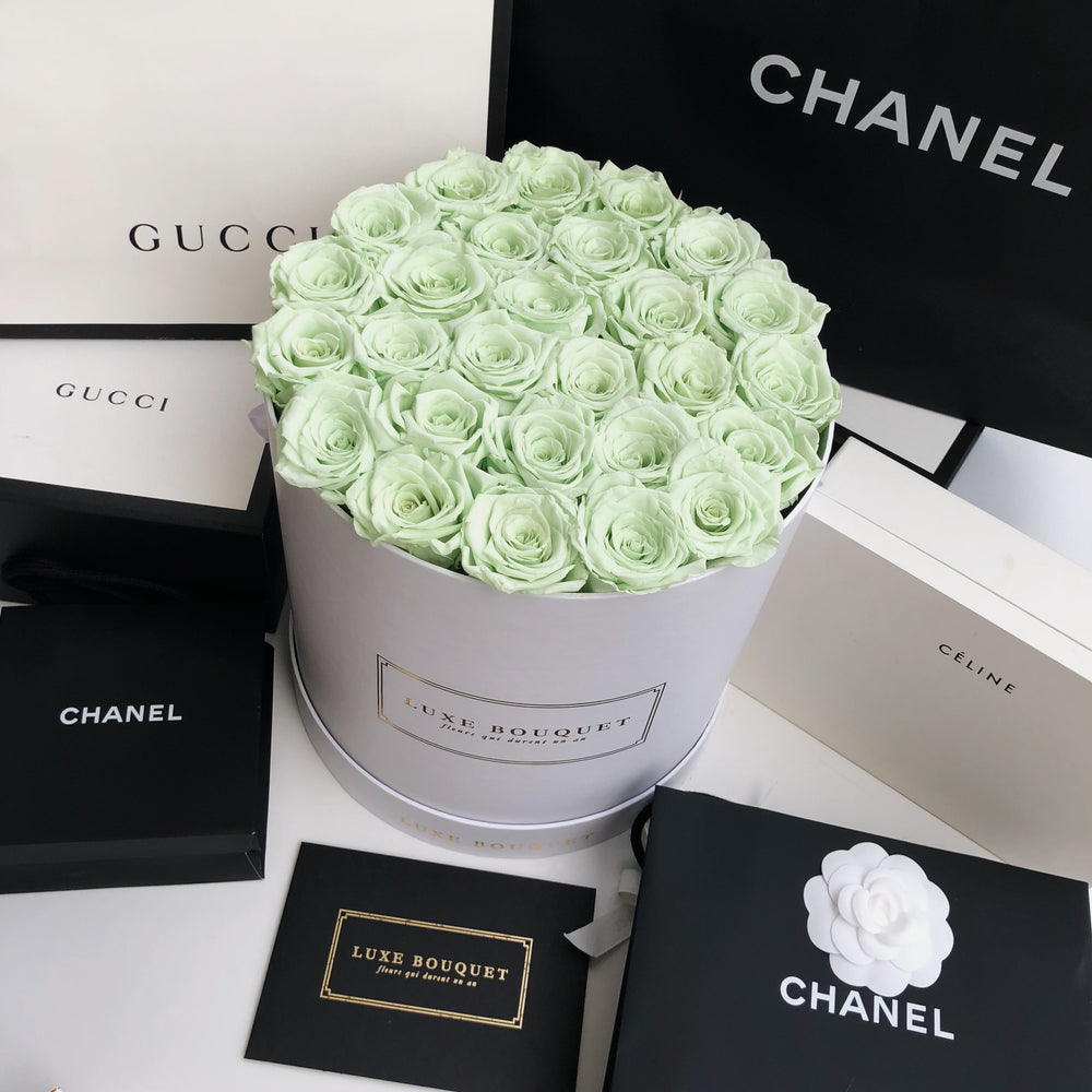Grand Luxe Bouquet Box - Lime Green - Luxe Bouquet roses that last a year