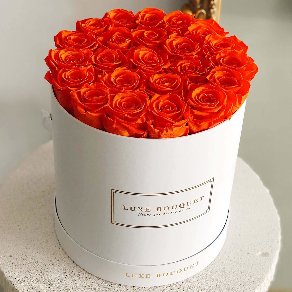 Grand Luxe Bouquet Box - Orange - Luxe Bouquet roses that last a year
