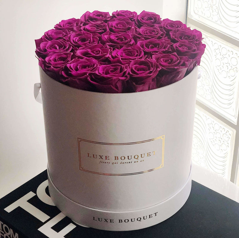 Grand Luxe Bouquet Box - Plum - Luxe Bouquet roses that last a year