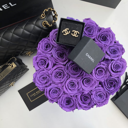 Grand Luxe Bouquet Box - Purple - Luxe Bouquet roses that last a year