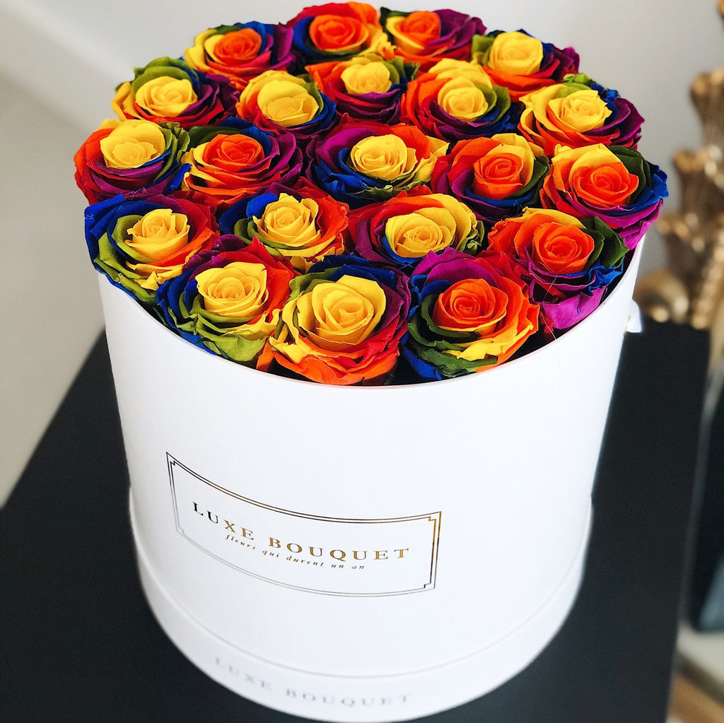 Grand Luxe Bouquet Box - Rainbow - Luxe Bouquet roses that last a year