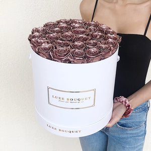 Grand Luxe Bouquet Box - Rose Gold - Luxe Bouquet roses that last a year