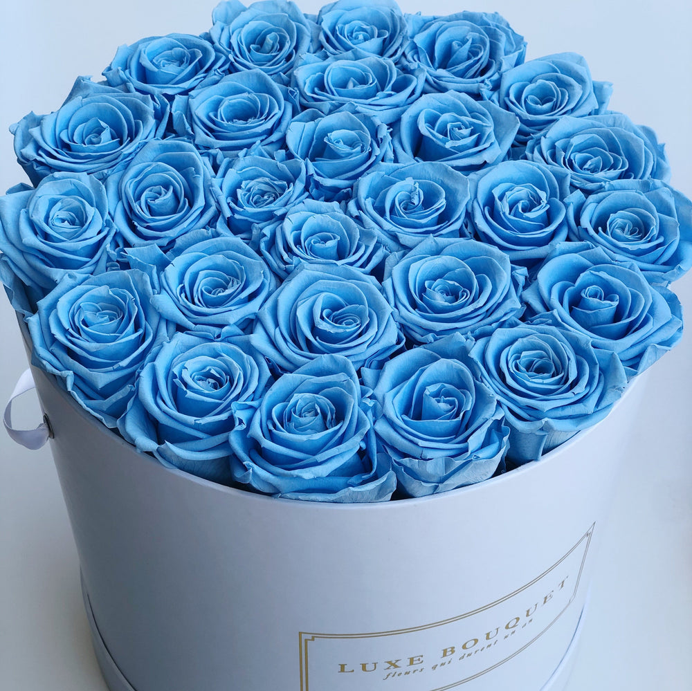 Grand Luxe Bouquet Box - Sky Blue - Luxe Bouquet roses that last a year