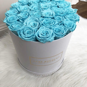 Grand Luxe Bouquet Box - Turquoise - Luxe Bouquet roses that last a year