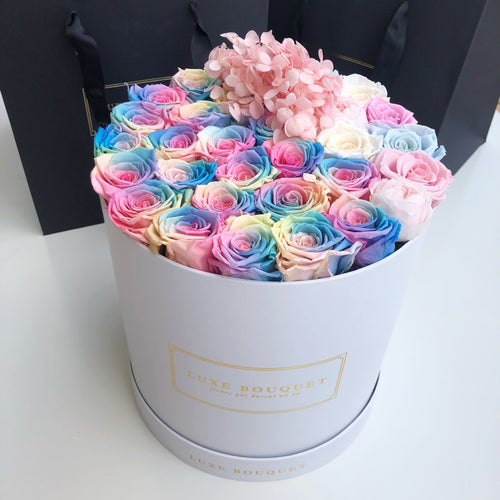 Grand Luxe Bouquet Box - Ultimate Unicorn - Luxe Bouquet roses that last a year