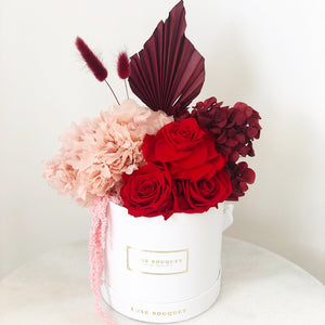 Hopeless Romantic Bouquet - Dried Flowers That Last a Year - Luxe Bouquet roses that last a year