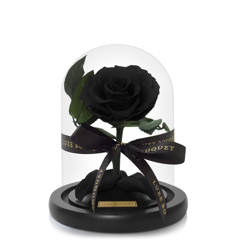 Mini Everlasting Rose - Black - PREORDER SHIPS FROM 01/05/2021 - Luxe Bouquet roses that last a year