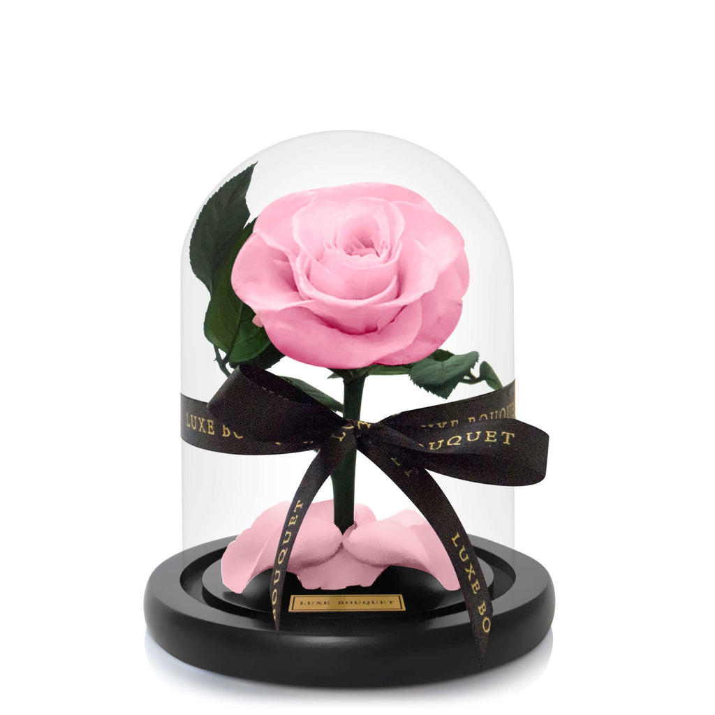 Mini Everlasting Rose - Pink - PREORDER SHIPS FROM 01/05/2021 - LUXE BOUQUET roses that last a year
