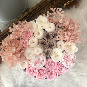 Peony Mixed Box - Luxe Bouquet roses that last a year