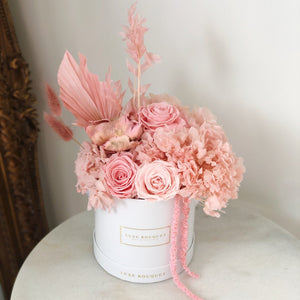 Pink Sherbet Bouquet - Dried Flowers That Last a Year - Luxe Bouquet roses that last a year