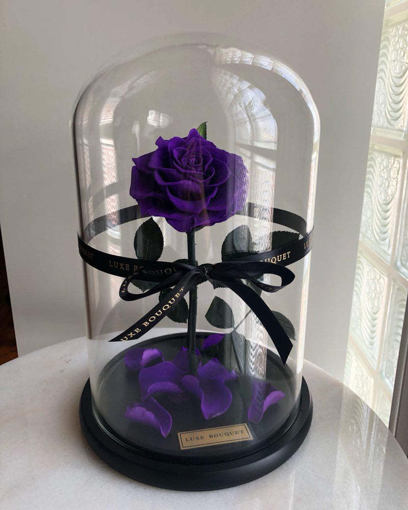 The Everlasting Rose - Purple - Luxe Bouquet roses that last a year