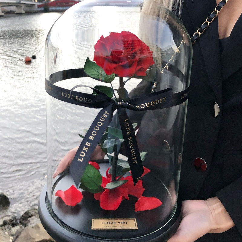 The Everlasting Rose - Red - Luxe Bouquet roses that last a year
