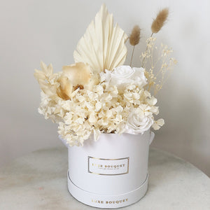 Whipped Cream Bouquet - Dried Flowers That Last a Year - Luxe Bouquet roses that last a year