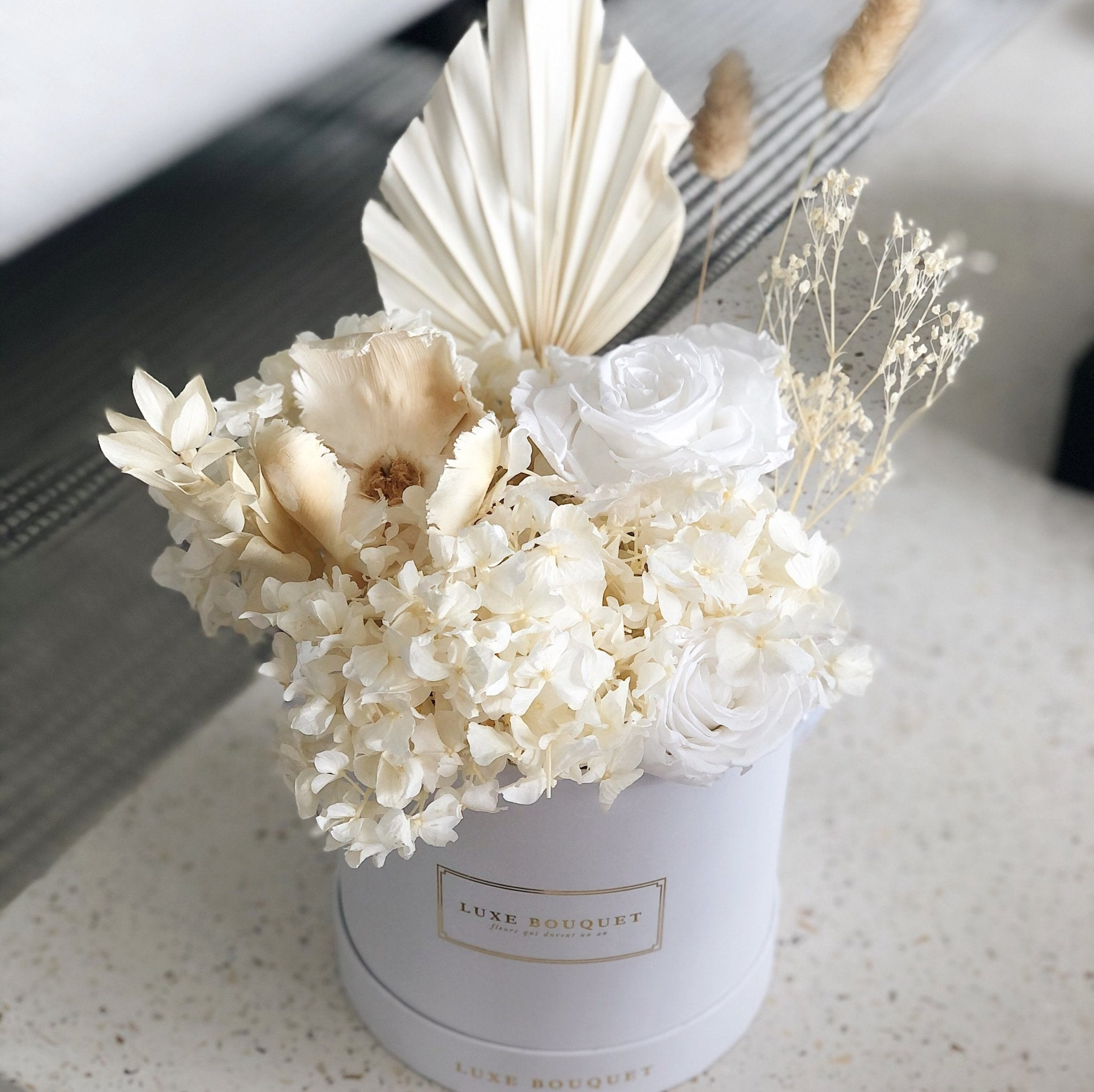Whipped Cream Bouquet Dried Flowers That Last A Year Luxe Bouquet