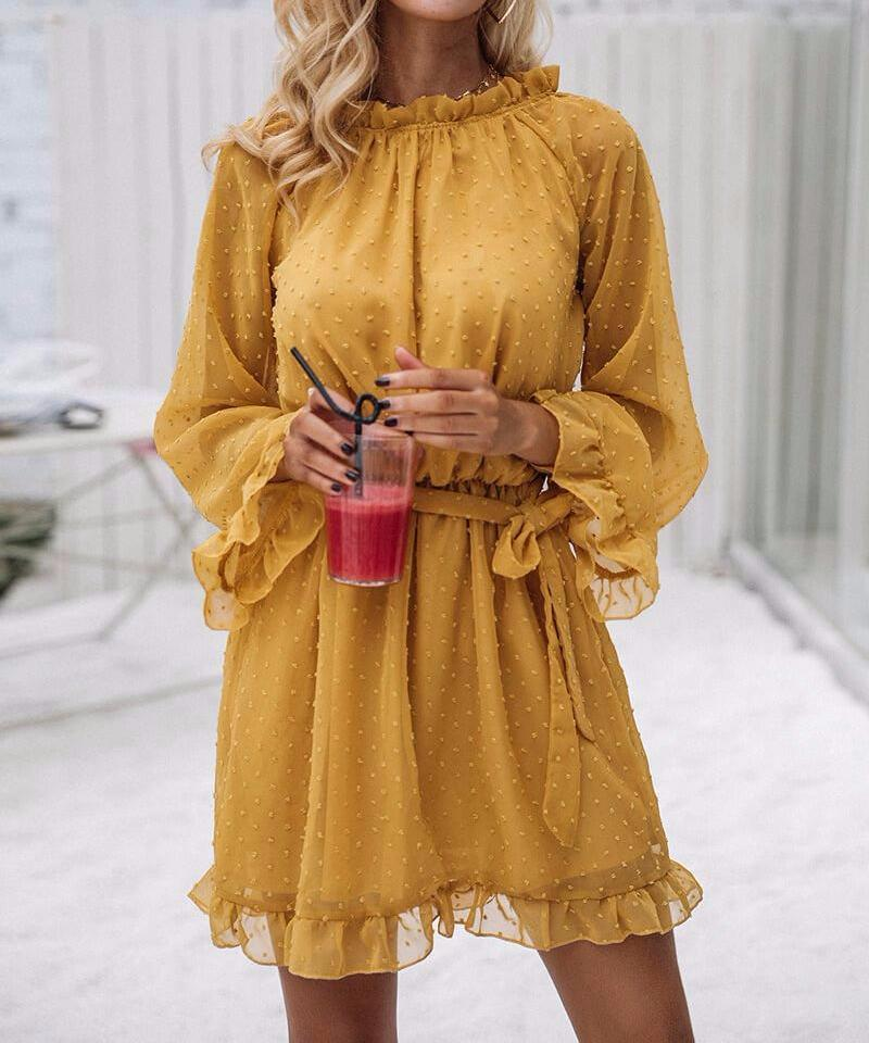 Deborah - Vintage Ruffle Mini Dress
