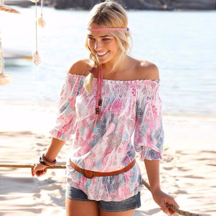 Indie - Sexy Floral Loose Top