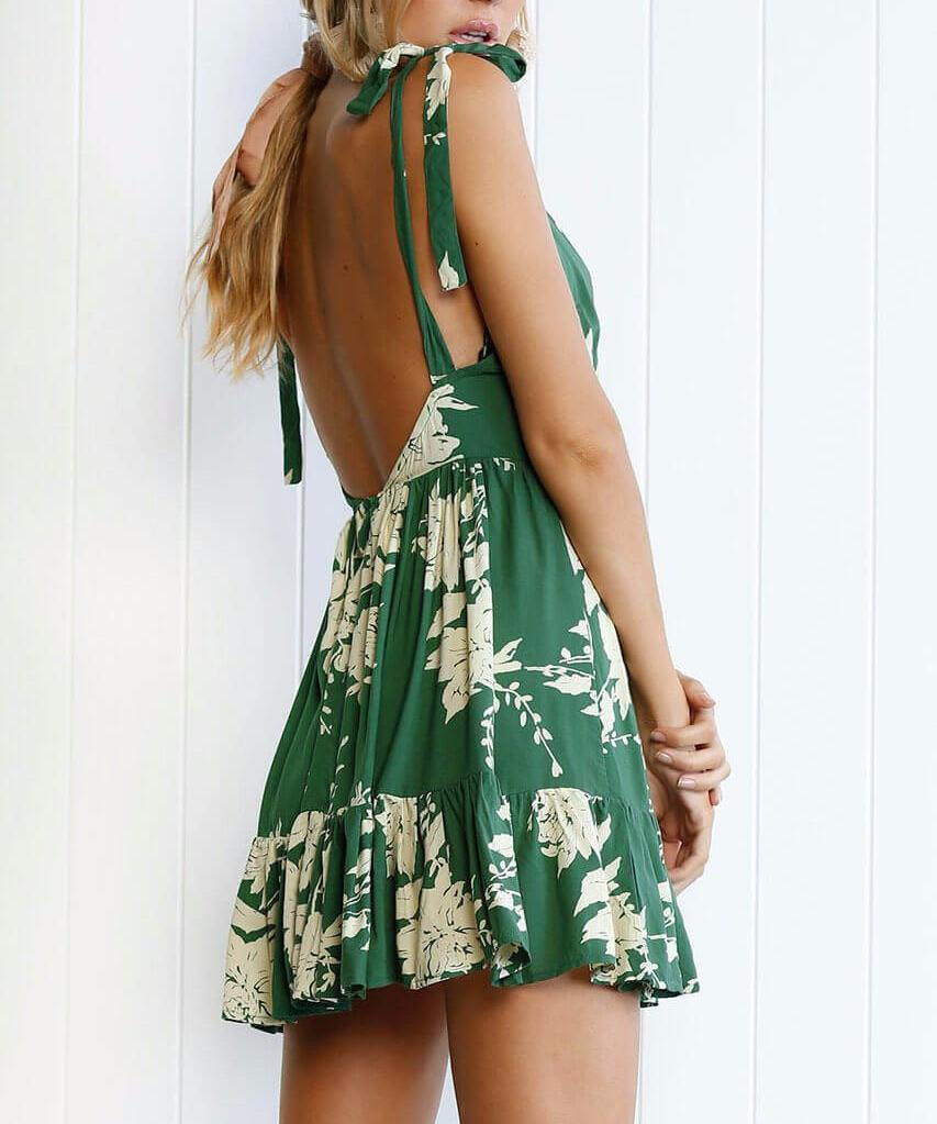Vivienne - Backless Mini Dress