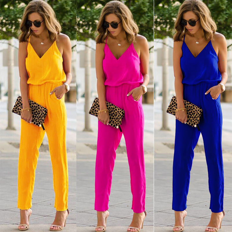 Alexia - Casual Sleeveless Jumpsuit