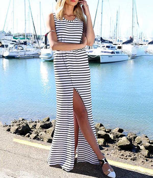 Audrey - Striped Maxi Dress