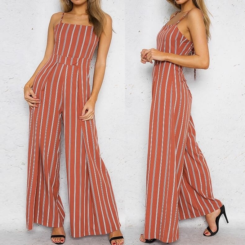 Aurora - Elegant Striped Jumpsuit