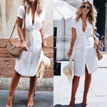 Caroline - Vintage Casual Shirt Dress