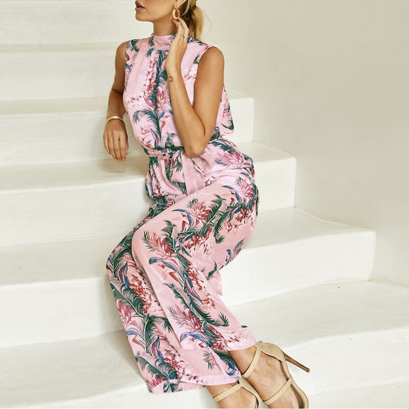 Everly - Floral Chiffon Playsuit