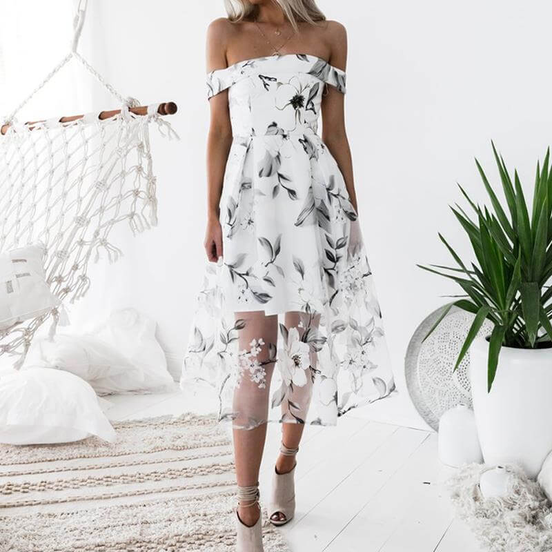 Isabelle - Elegant Floral Dress