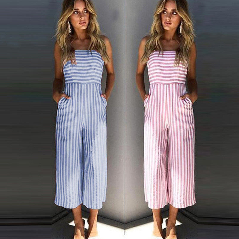 Julia - Casual Striped Jumpsuit