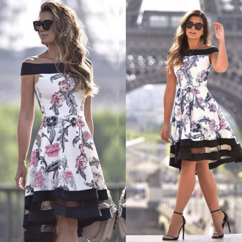 Laurel - Floral Party Dress