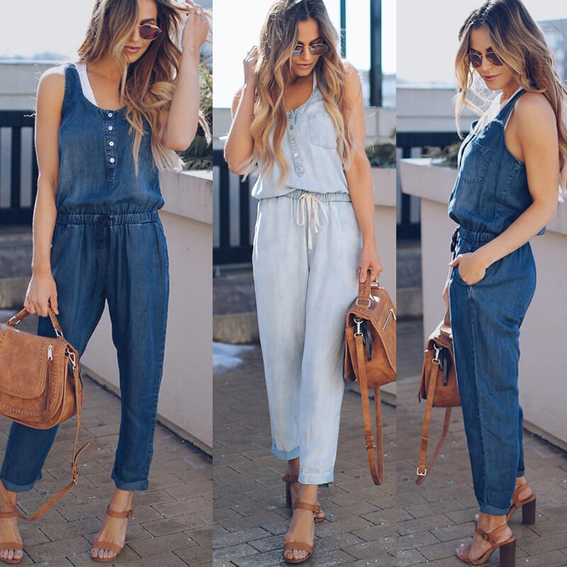 Lianne - Casual Denim Jumpsuit