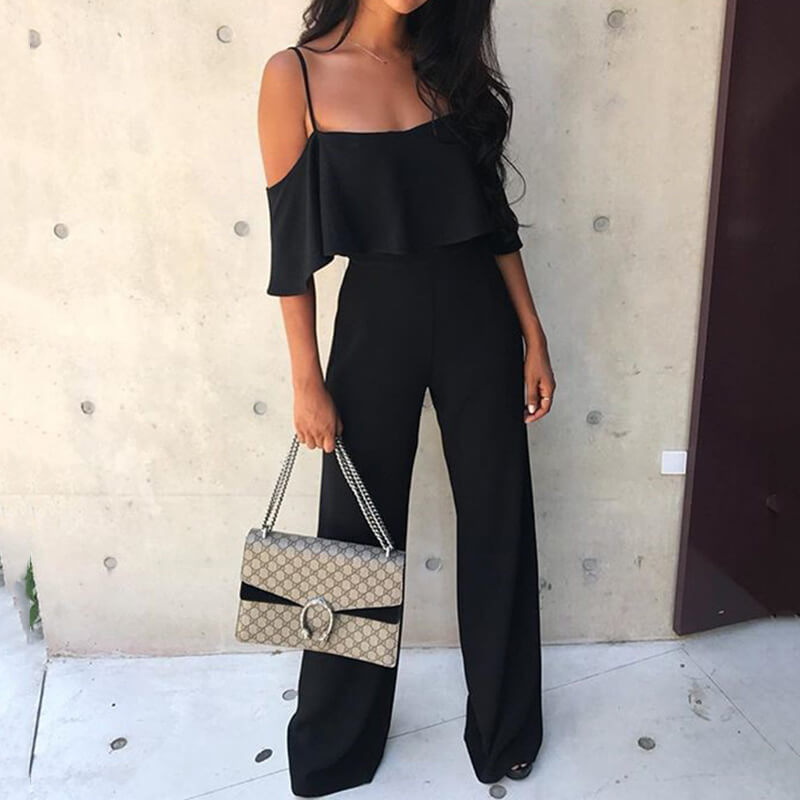 Mia - Elegant Flared Jumpsuit