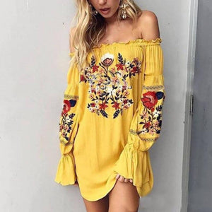 Olivia - Floral Embroidered Dress