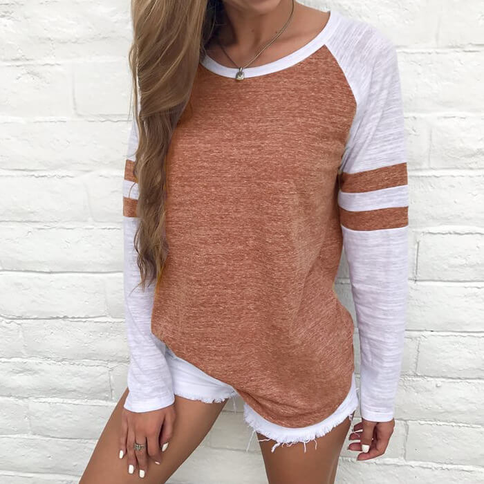 Stripes - Sporty Long Sleeve Top