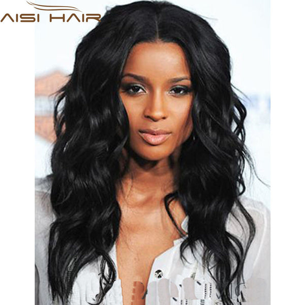 "20"" Afro Long Curly Black Wig African American Wig For Black Women Synthetic Natural Black Ciara Wig Cheap Fake Hair Lolita Wig"