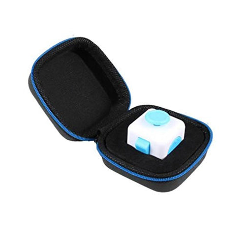 Anglewolf Gift Bag Packet For Fidget Cube Anxiety Stress Relief Focus Dice Box Carry Case (Blue)
