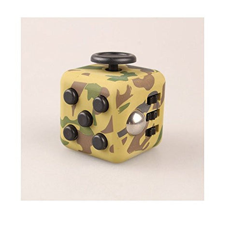 ENJOY JuYi Fidget Cube Relieves Stress And Anxiety for Children and Adults (Camo Green)