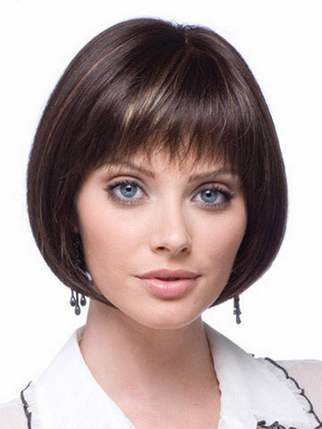 8inch Highlights brown modern short haircuts cheap bob wigs for black women with free shipping