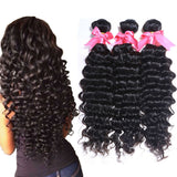 "Brazilian deep wave 4pcs/lot 6A brazilian human hair extensions 8""-30"" brazilian virgin hair deep wave virgin hair bundle deals"