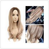 Cheap Black To Blonde Long Wavy Wigs For Black Women Ombre Body Wave Heat Resistant Synthetic Hair Wig For Daywear Or Cosplay