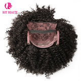 Hot Beauty Hair Brazilian Kinky Curly Short Wig 8'' 10'' Can Be Dyed Full 310g 100% Remy Human Hair Wigs Natural Black Color