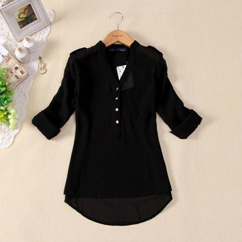 Hot Sale Camisa Feminina Women Chiffon Blouse Shirts Womens Tops Fashion 2016 Summer Style Clothing Short Sleeve Plus Size S-3XL