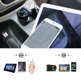 Wireless FM Transmitter Bluetooth Car Kit MP3 Player LED Dual USB 4.1A Quick Charger Voltage Display Micro SD TF Music Playing