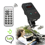 Car Wireless Bluetooth 3.0 FM USB Car Handsfree Mic TF Card MP3 Adapter Player Transmitter Charger