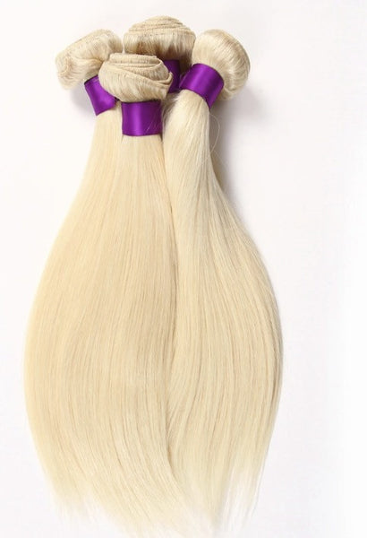Blonde Remi hair extension weave colour 613